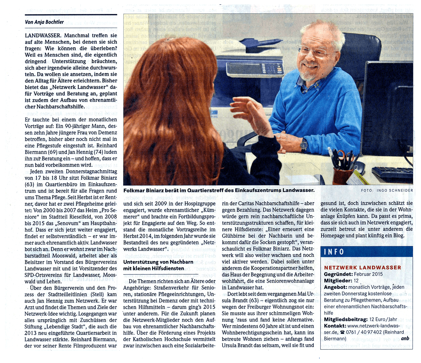Ein Bericht der Badischen Zeitung über unseren Verein